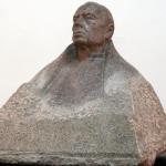 St. Gruszka, Kardynał Stefan Wyszyński, granit, 1983, Muzeum Centrum Rzeźby Polskiej, Orońsko